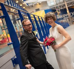 Discovery Museum wedding photograph by Laurence Sweeney Photography