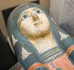 a mummy casket