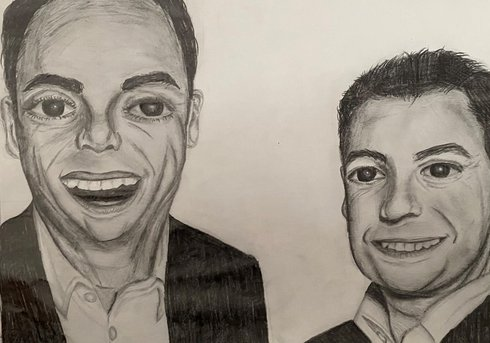 ant and dec drawing