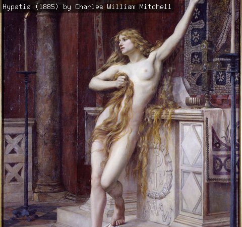 Hypatia (1885) by Charles William Mitchell
