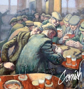 Paining of The Crowded Bar by Norman Cornish