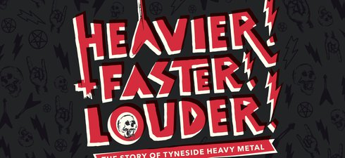 Heavy metal style graphic saying Heavier! Faster! Louder!