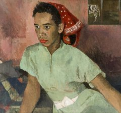 Sheila Mackie (1928-2010), 'The Red Handkerchief', oil on canvas, 1951.