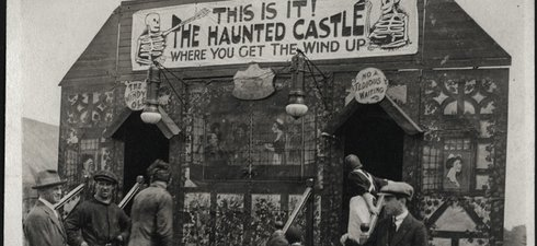 Funfair stall at The Hoppings in 1950s