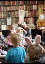 Children being told a story at the Great North Museum