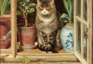 Cat painting by RAlph Hedley