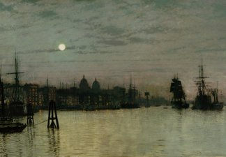 'Greenwich, Half Tide', by the artist (John) Atkinson Grimshaw