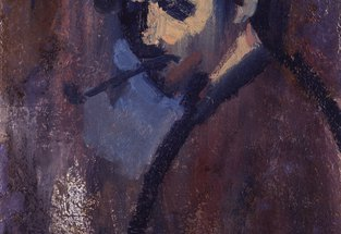 Self-Portrait with Pipe, David Bomberg, c.1932 © National Portrait Gallery, London