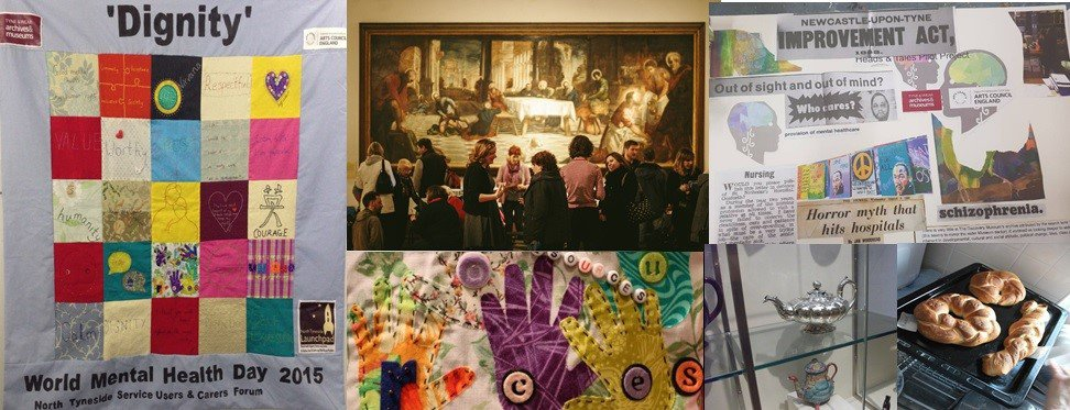 A collage of images relating to the Wellbeing outreach programme