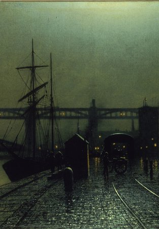 A painting of Newcastle Quayside