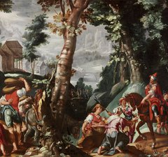 Meeting of David and Abigail, after the artist Joachim Anthonisz Wttewael