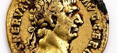 Golf coin with profile of Roman Emporer Trajan