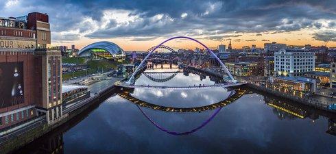 A view of NewcastleGateshead quayside