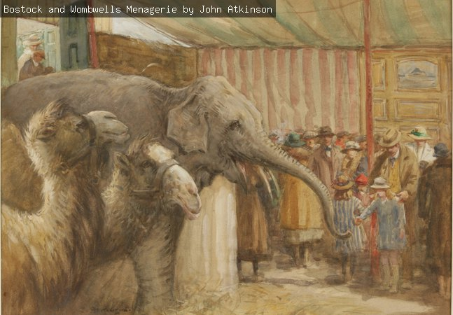 Bostock and Wombwell's Menagerie by John Atkinson