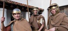 Three Roman soldiers at Arbeia