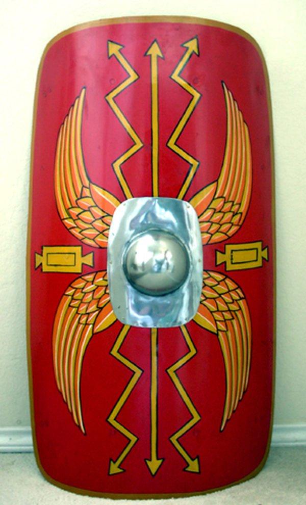 Roman legionary soldier's shield