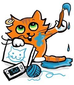 Illustration of an orange cat