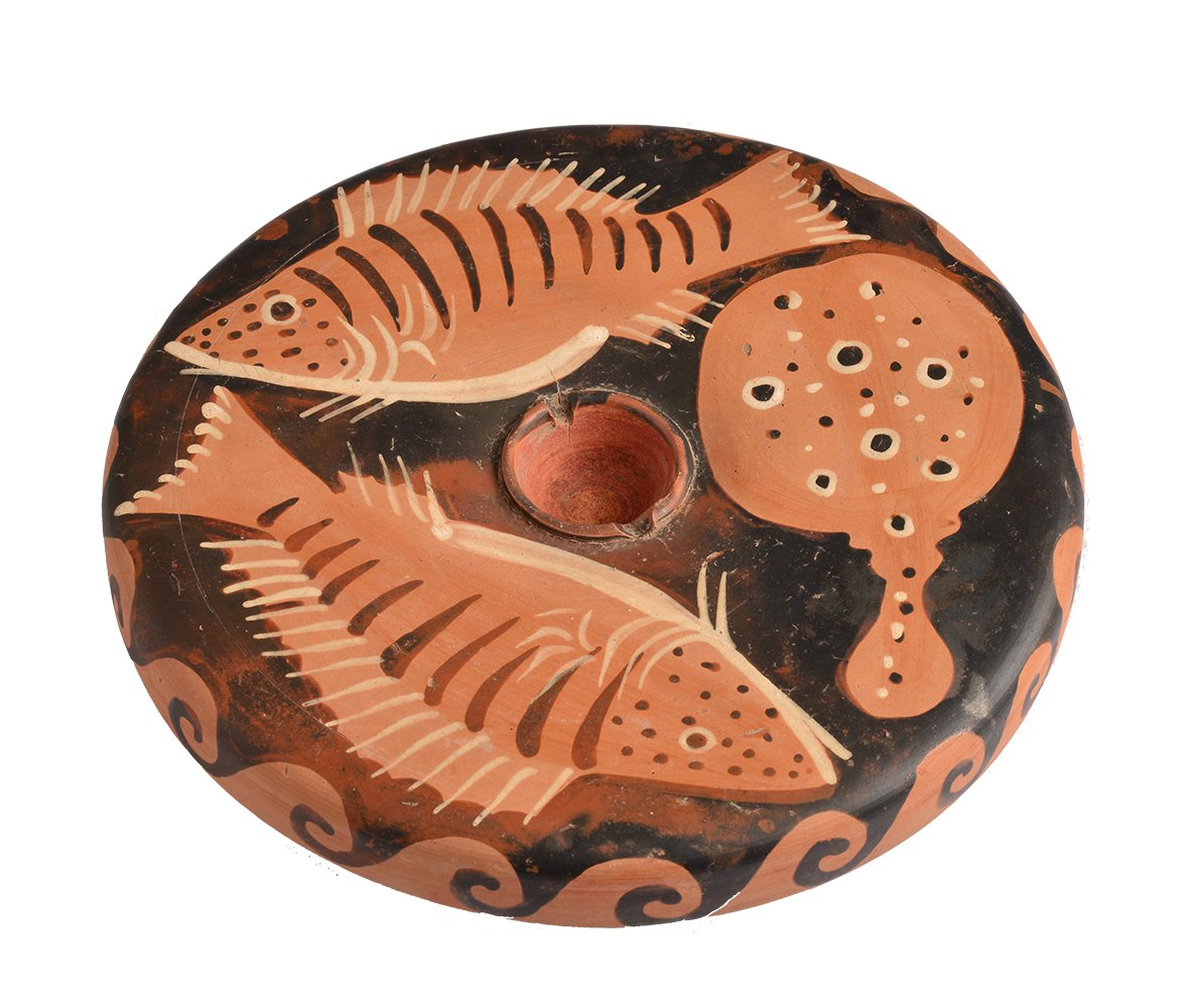 South Italian Fish-plate, 400-300BC, Shefton Collection 183