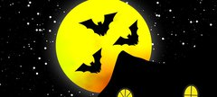 bats in front of moon graphic