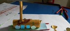 Junk modelling rocket train