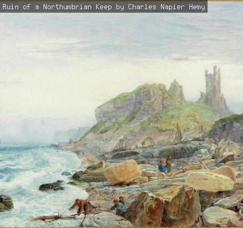 Ruin of a Northumbrian Keep by Charles Napier Hemy