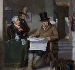 Reading the News, c1820, by Sir David Wilkie, from the Laing Art Gallery collection
