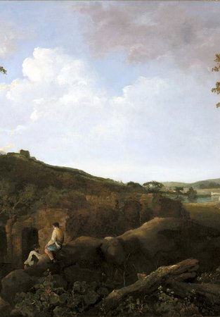 Painting, oil on canvas, entitled 'The Alban Hills', by the artist Richard Wilson