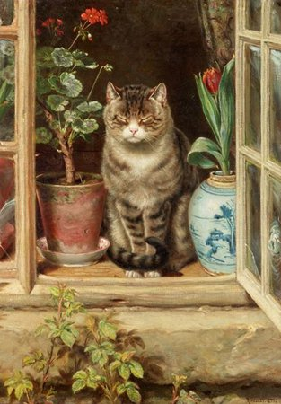 Blinking in the Sun by Ralph Hedley