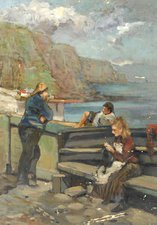 Figures on a Harbour, William Henry Charlton