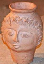 Roman head pot