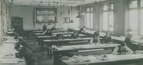 Drawing Office of William Doxford & Sons Ltd, Pallion, Sunderland, c1928