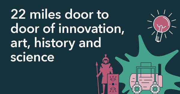 22 miles door to door of innovation art, history and science