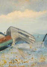 A painting of three boats by William Henry Charlton