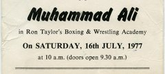 Ticket to see Mohammad Ali 16 July 1977