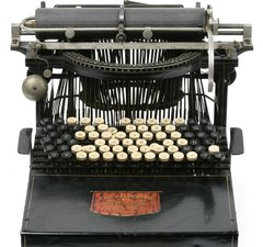 A typewriter dating from 1882