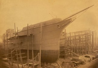 Trojan Prince ship in dock