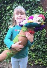 Girl holding cornucopia