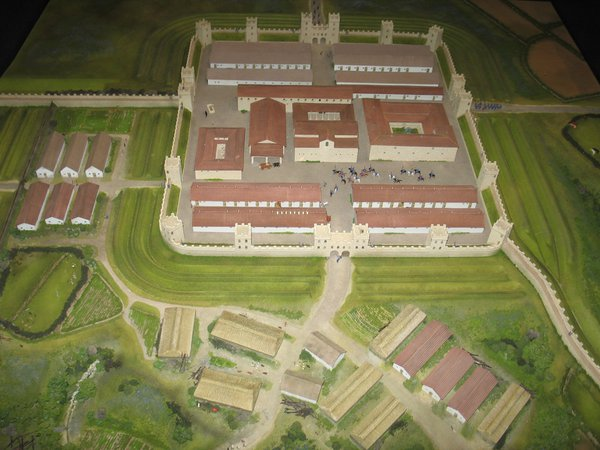 Model of Segedunum Fort