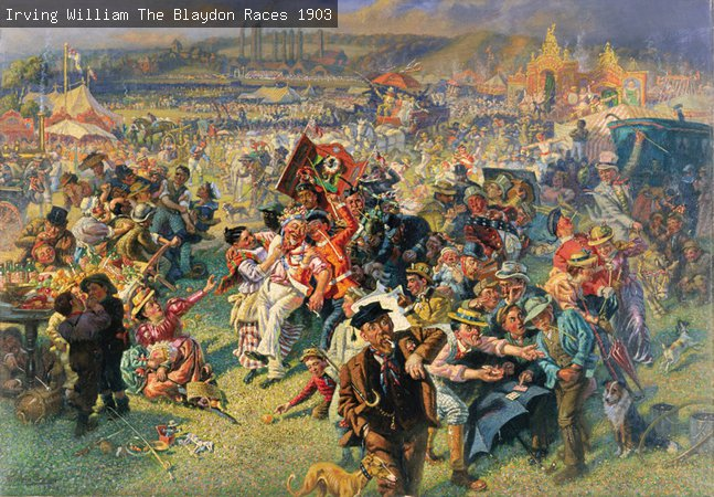 The Blaydon Races painting