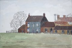 Painting of Colleys Farm 1951