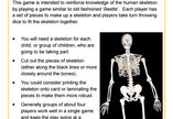 Skeletons Game - in school version