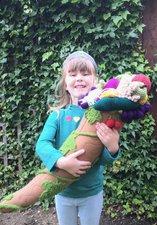 Young girl holding cornucopia