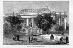 a drawing of the Hancock Museum