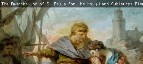 The Embarkation of St. Paula for the Holy Land, Subleyras, Pierre