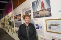 Sheila Graber at her exhibition