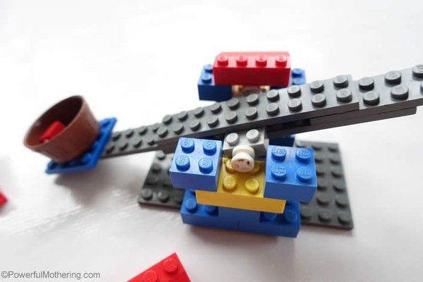 Catapult made from LEGO
