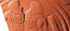 Fragment showing gladiators