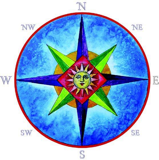 Compass rose design