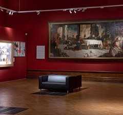 Tintoretto in situ in the gallery