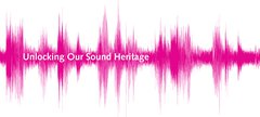 Unlocking our sound heritage logo - a pink soundwave